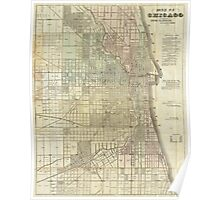 Vintage Map of Chicago (1857) Poster