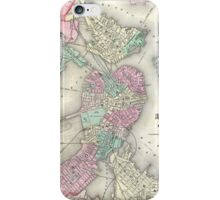 Vintage Map of Boston Harbor (1857) iPhone Case/Skin
