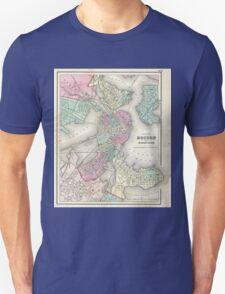 Vintage Map of Boston Harbor (1857) T-Shirt