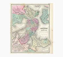 Vintage Map of Boston Harbor (1857) Unisex T-Shirt