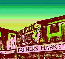 Pikes Market Vintage Art by Josh Burt