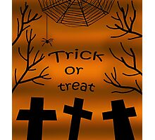 Trick or treat - cemetery Photographic Print