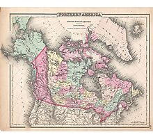 Vintage Map of Canada (1857)  Photographic Print