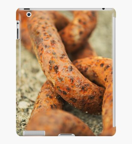 rugged rust orange metal chain iPad Case/Skin