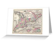 Vintage Map of Ontario (1857)  Greeting Card