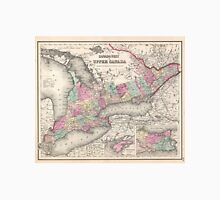 Vintage Map of Ontario (1857)  Unisex T-Shirt