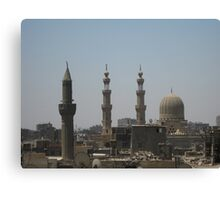 Cairo sky from a minaret Canvas Print