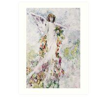 Angel Blossoms Art Print