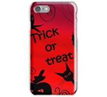Trick or treat - Halloween landscape iPhone Case/Skin