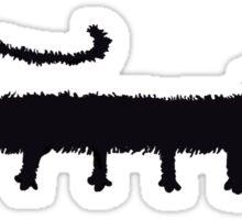 Spooky Black Cat Sticker