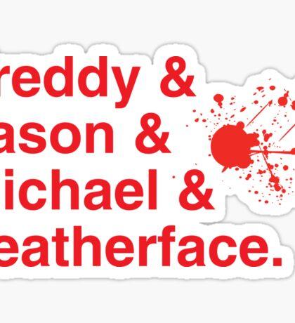 Horror Icons Sticker