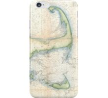 Vintage Map of Cape Cod (1857)  iPhone Case/Skin