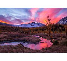 Sunrise over the creek Photographic Print