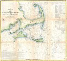 Vintage Map of Cape Cod (1857)  by BravuraMedia