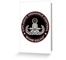 Master EOD Bomb Squad Greeting Card