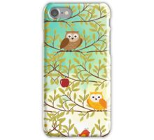 Autumn birds iPhone Case/Skin