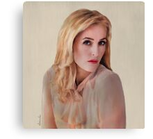 Gillian Anderson oil color painting  Canvas Print