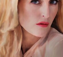 Gillian Anderson oil color painting  Sticker