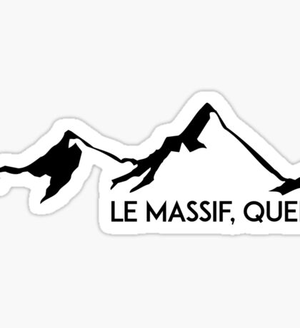 LE MASSIF QUEBEC CANADA QUÉ BEC SKIING SKI MOUNTAINS SNOWBOARD Sticker