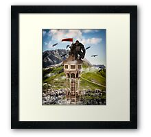 The Gorilla on Top Framed Print