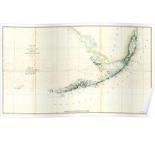 Vintage Map of The Florida Keys (1859) Poster