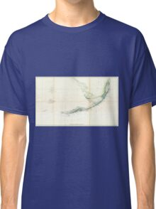 Vintage Map of The Florida Keys (1859) Classic T-Shirt