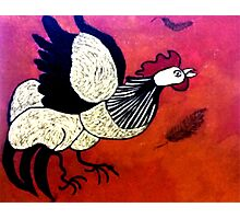Rooster Red  Photographic Print