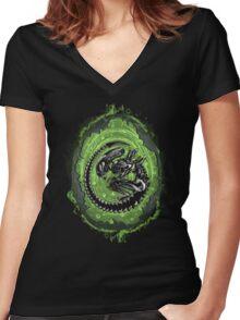 Alien Incubation Women's Fitted V-Neck T-Shirt