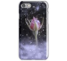 starry sparkling rosebud in the snow 3, tinted iPhone Case/Skin