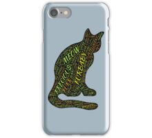 Cat Furbaby TypographyStyle iPhone Case/Skin