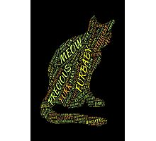Cat Furbaby TypographyStyle Photographic Print