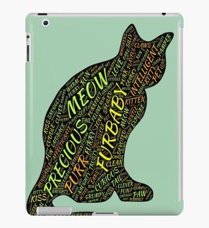 Cat Furbaby Typography Style iPad Case/Skin