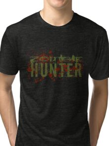 Zombie Hunter - green Tri-blend T-Shirt