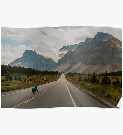 skating the icefields parkway Poster