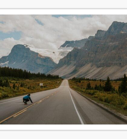 skating the icefields parkway Sticker