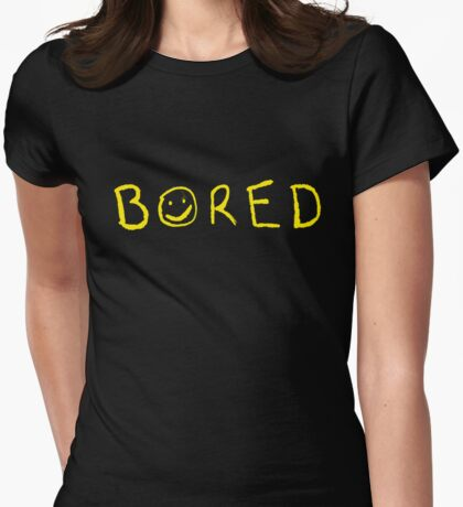 Bored Womens Fitted T-Shirt