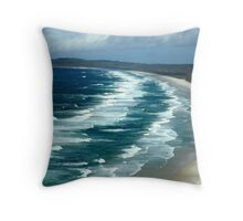 From The Lighthouse looking south, Byron Bay Throw Pillow