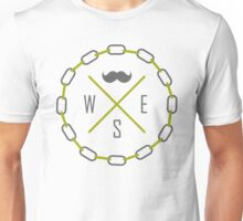 Hipster Directions (Mustache, South, East, West) Unisex T-Shirt