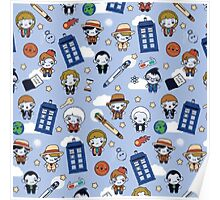 Doctor Who pattern  Poster