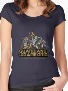 Guardians of the Game Grid. Women's Fitted Scoop T-Shirt