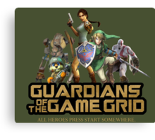 Guardians of the Game Grid. Canvas Print