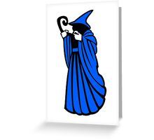 RPG Game Blue Wizard Greeting Card