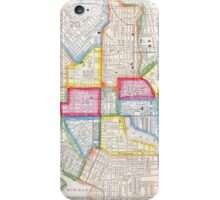 Vintage Map of Downtown Baltimore (1860) iPhone Case/Skin