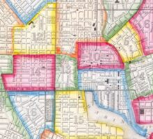 Vintage Map of Downtown Baltimore (1860) Sticker