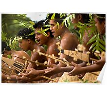 Paddle Dance - Pohnpei Island, Micronesia Poster