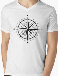 True North Compass Nautical Love Mens V-Neck T-Shirt