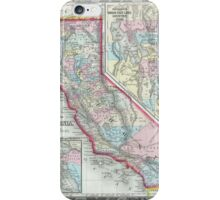 Vintage Map of California (1860) iPhone Case/Skin