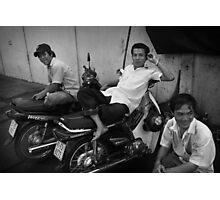 Moto-Men - Saigon, Vietnam Photographic Print