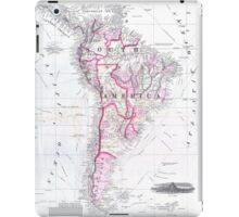 Vintage Map of South America (1861) iPad Case/Skin