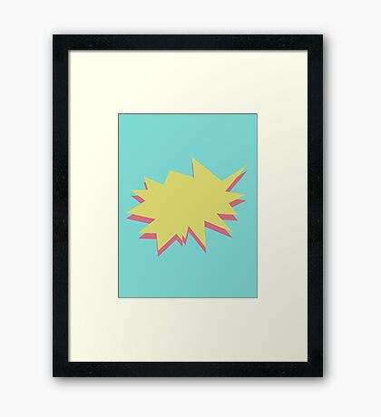 Movement in Small Lines Framed Print